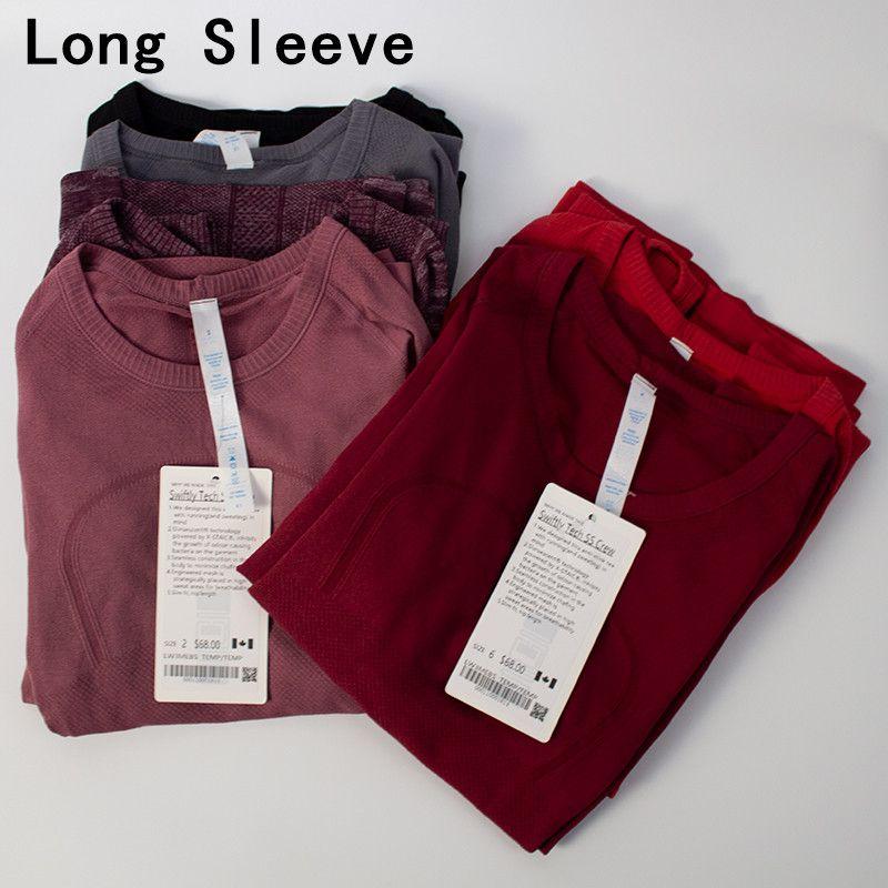 Йога женская одежда с длинным рукавом рубашка со спортивными женщинами бегущая быстро сушильная фитнес классическая леди одежда высоко эластичный