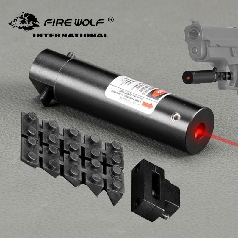 6 PCS / LOT Tactical Rojo Dot Mini Láser Rojo Vista con interruptor de cola Alcance Pistola con alargar Rat Tail Tail Hunting Optics