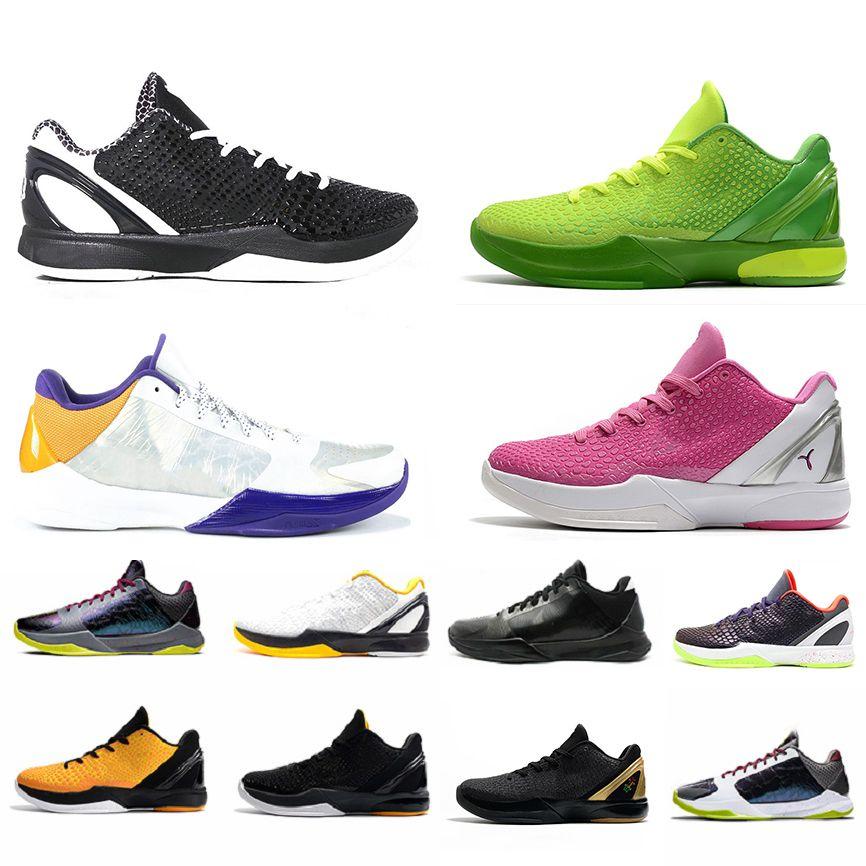 Nike Kobe Bryant 2020 غرينش الأسود الذهب الأزياء بروتو 6 رجال لكرة السلة الأحذية 6S هل تعتقد الوردي الرجال المدربين تنفس لينة في الهواء الطلق رياضية احذية رياضية 40-46