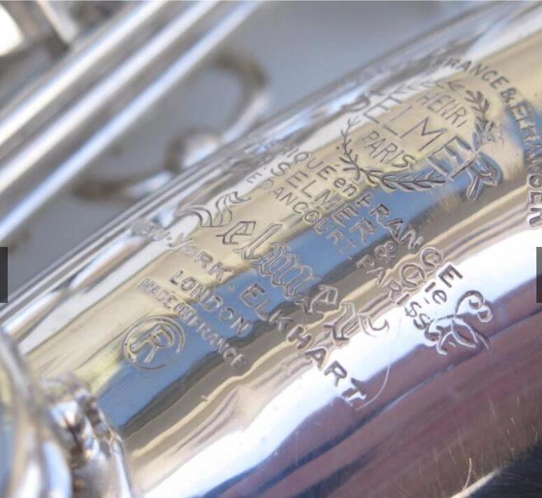 فرنسا مارك السادس 1958 ألتو ساكسفون الفضة مطلي نسخة 99٪ نفس الأصلي eb e flat sax