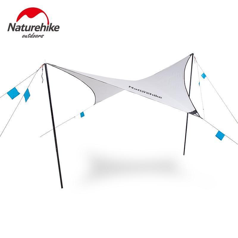 NatureHike Shelter Diamond Sky-Coated Sky Cortina Toldo Ultra Light Portable Camping Impermeable Sunscreen Sunshade al aire libre