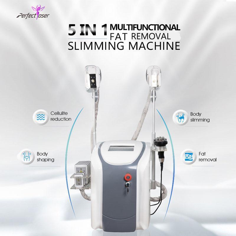 Cryotherapy fat freezing machine waist slimming cavitation rf equipment weight reduction lipo laser 2 cryo heads can work at the same time