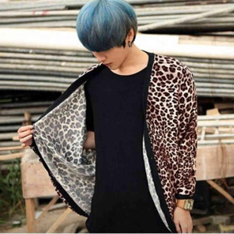Top T-shirt da uomo a manica lunga sciolta Big Bat-Mango Manica Man Manica Coreana della versione coreana del T-Tuta maschile 5LKB