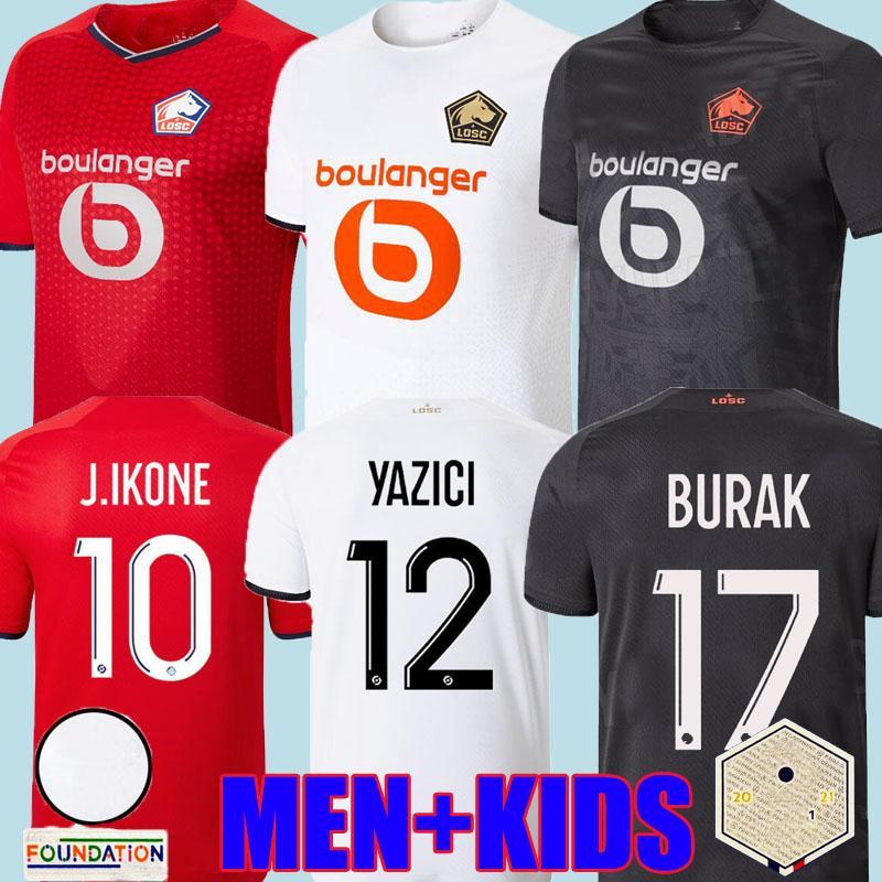 21 22 Losc Lille Soccer Jerseys David Fonte Burak Bamba Yazai 2021 2022 Trooshes Jikone R. Sanches T.Weh L.Auaujo Botman Celik Xeka Mailleots كرة القدم