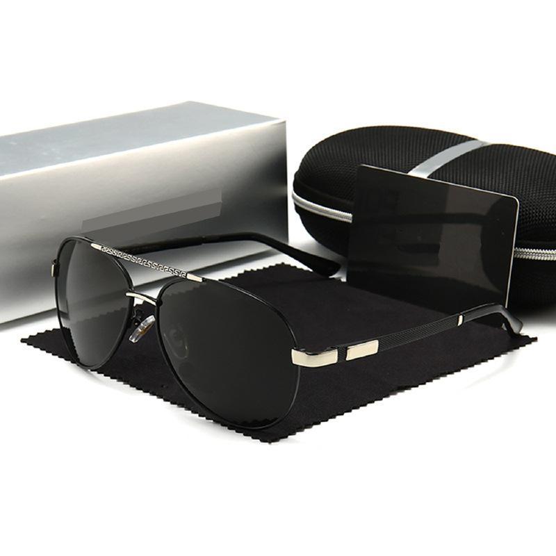 High Homme d'été Style d'été rectangulaire de qualité supérieure de qualité UV Protection avec lunettes de soleil lunettes polarisées 618