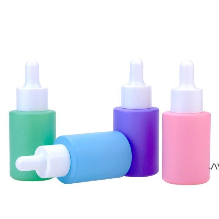 معكرون لون الزجاج بالقطارة زجاجة الضروري النفط العطور 30ML الأزياء حاويات مستحضرات التجميل المحمولة إعادة الملء حجم السفر DWB7822