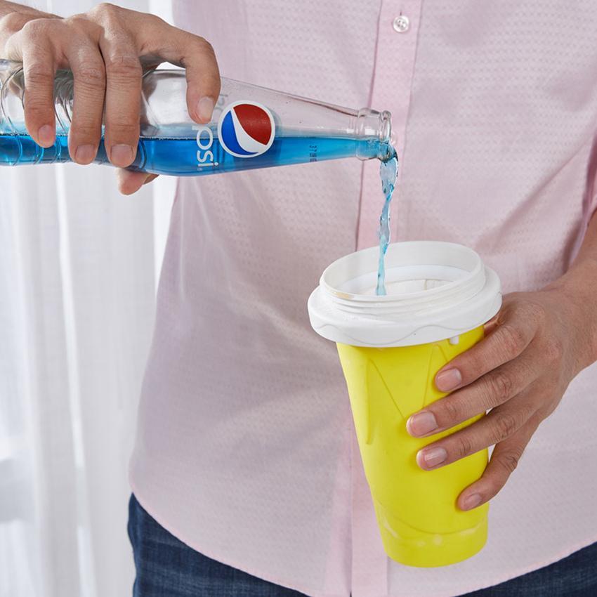 Smoothie Coupe Main Faire une boisson glacée concassée à la glace Tabar de requin pincement transformé en tasses de silicone de réfrigération glacée 4 couleurs par mer LLA736