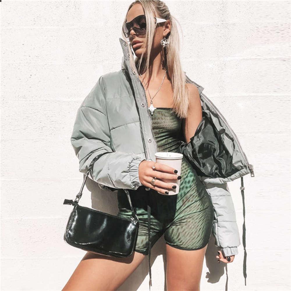 Riflettente autunno autunno cappotti invernali da donna sottile spessore manica lunga a maniche lunghe giacche moda moda caldo notturno incandescenza tuta sportiva abbigliamento