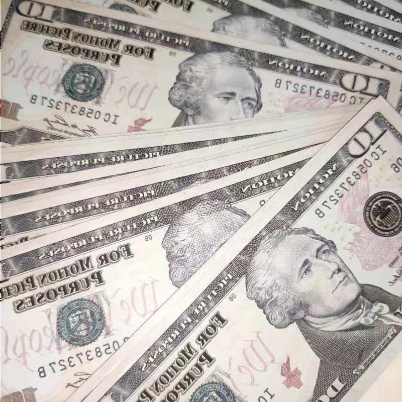 US Dollar Hot Sales 025 Bar Banknote 10 Dollars Games Fake Money Prop Gifts Party Movie Collection Gckvg