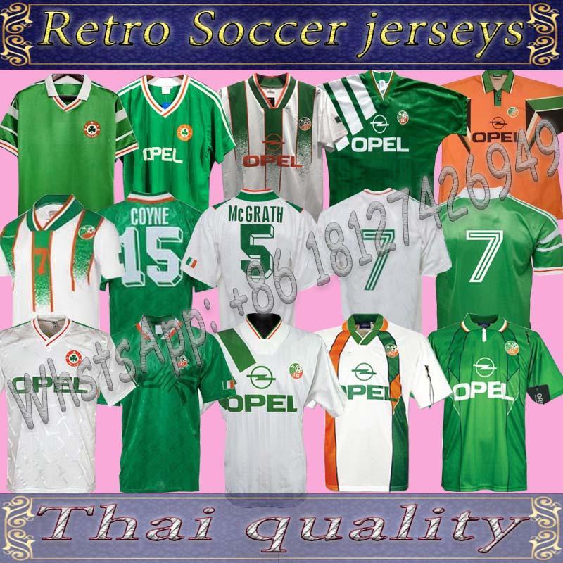 아일랜드 레트로 빈티지 1988 1990 1994 1994 1995 아일랜드 축구 유니폼 축구 셔츠 National 90 월드컵 북부 아일랜드 1993 키트