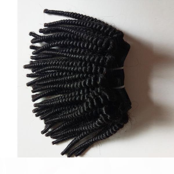Mujer negra sin procesar Peinado Virginal Brasileño Afro Kinky Rizado Mejor Calidad Durable Indian Remy Hair en venta Fábrica Precio 3pcs Lot