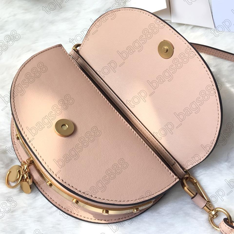 Luxurys Designer Cloe Nil Nano Frauen Kreuz Körper Umhängetaschen mit Sn Box Geldbörsen Top Qualität Rosa Kalbsleder Echtes Leder Half Moon Bag