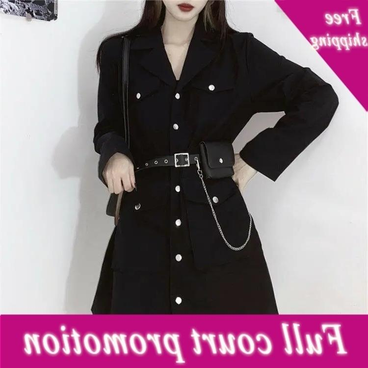 Negro largo mouwen gótico jurk coreano harajuku vintage sexy mini pak ropa de verano mujer recupera la ropa elegante de la oficina Cosplay