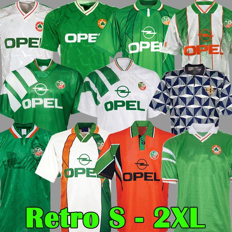 Retro Vintage 1988 1990 1992 1994 1995 1996 1997 Irlanda futebol Jersey República da Irlanda Camisa de futebol National 90 World Cup Northern Irlanda 1993 Kits