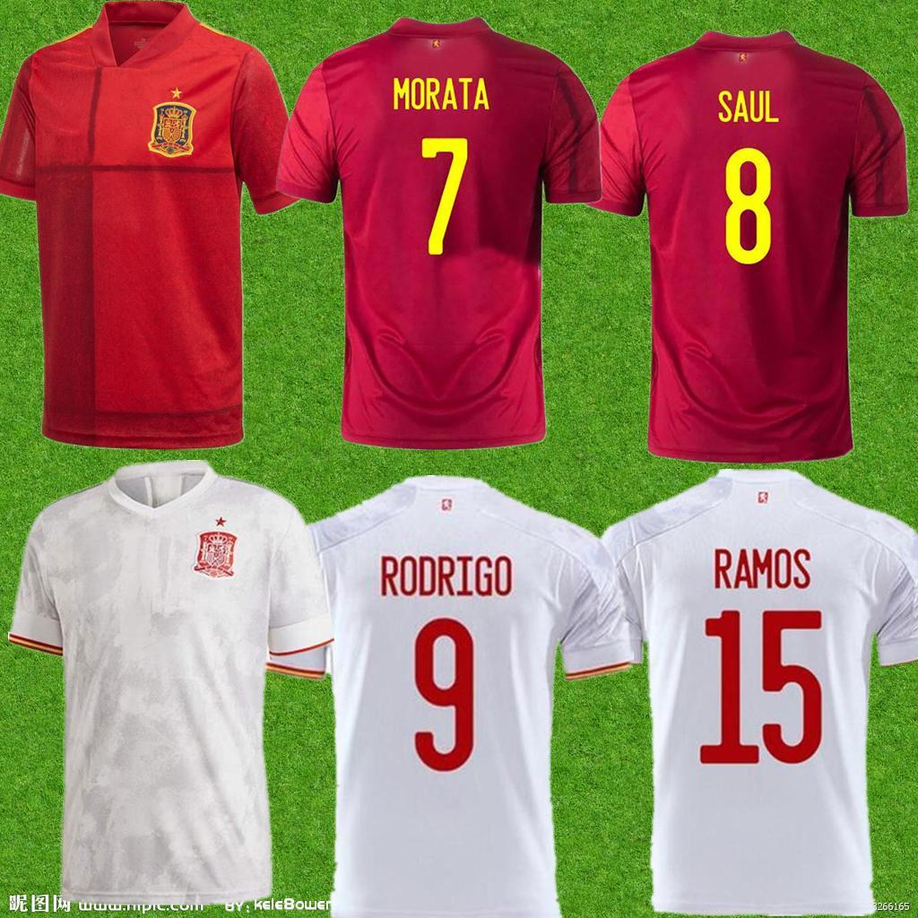 الرجال بعيدا في المنزل لكرة القدم الفانيلة 2021 camiseta de futbol asensio morata لكرة القدم قميص ايسكو راموس إينيستا مايلوت القدم