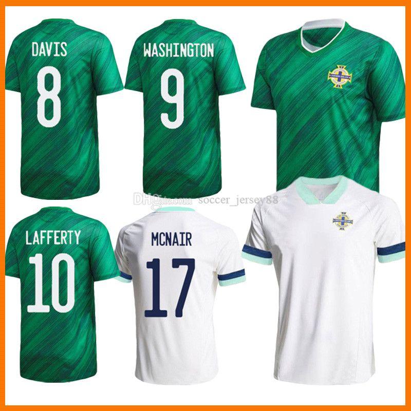 2021 Northern Irlanda Soccer Jerseys Men + Kits Kits Evans Lewis Saville Davis Whyte Lafferty McNair Home 20 21 Maillots Camisetas de fútbol