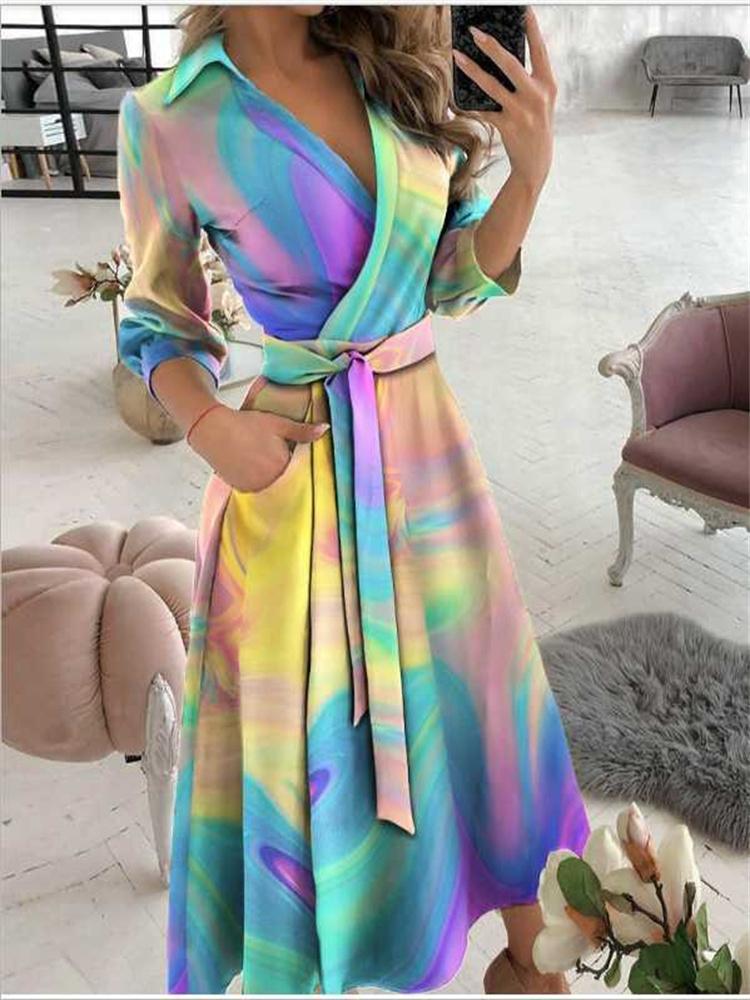 Seksi Kadınlar Derin V Yaka Mini Elbise Yaz Kısa Kollu Zincir Baskı Elbiseler Yüksek Bel Parti Clubwear 2021g Kalça Kadın Giyim için