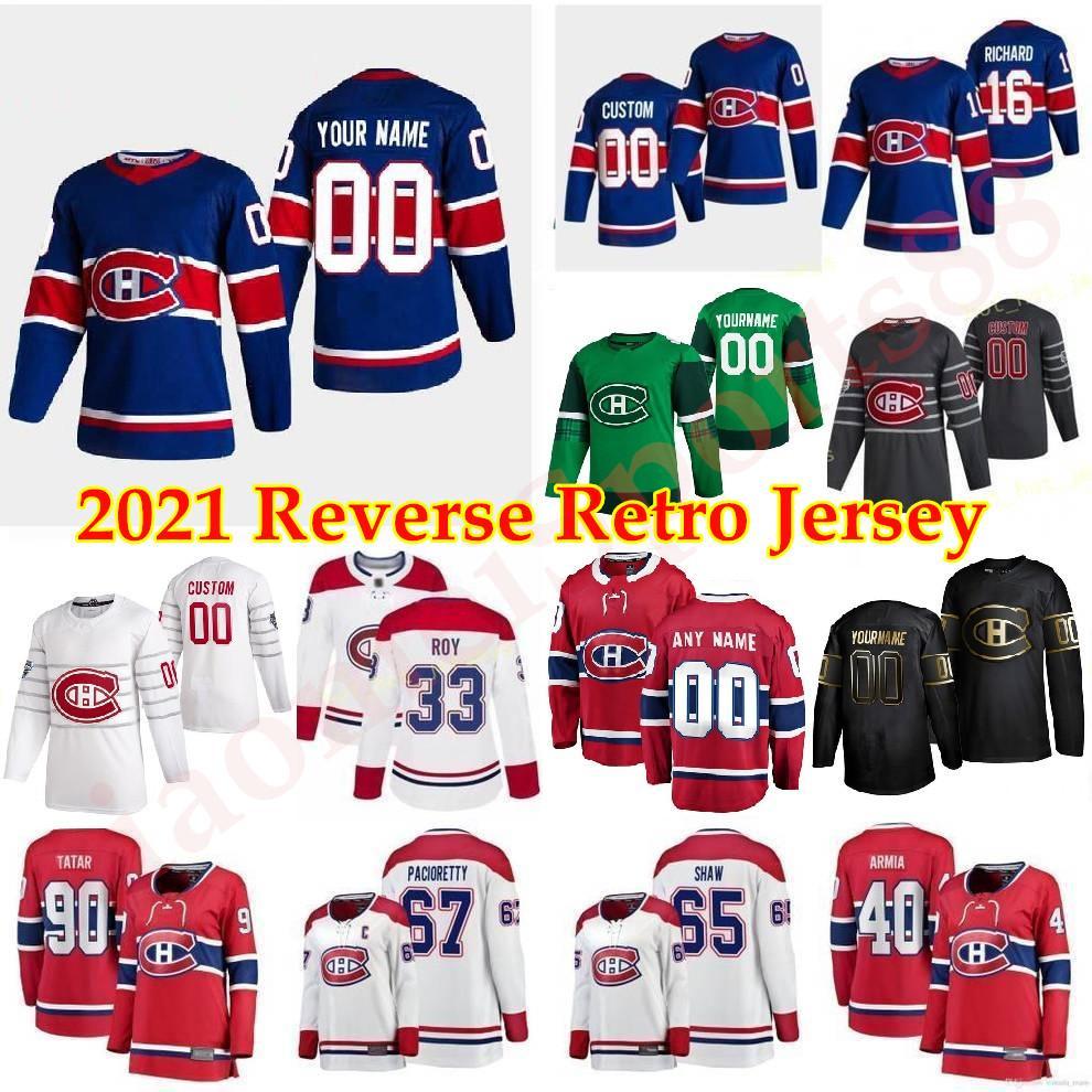 Montreal Canadiens 2021 Retro Retro Hockey Jerseys Jonathan Drouin Chris Chelios Jesperi Kotkaniemi Tomas Tatar JEFF PETRY CUSTITED