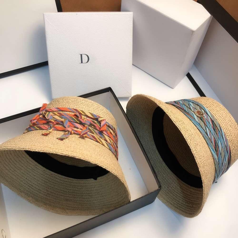Sharafe Kova Havzası Moda Bohemian Şerit Saman Bayan Plaj Rort Sun Şapka