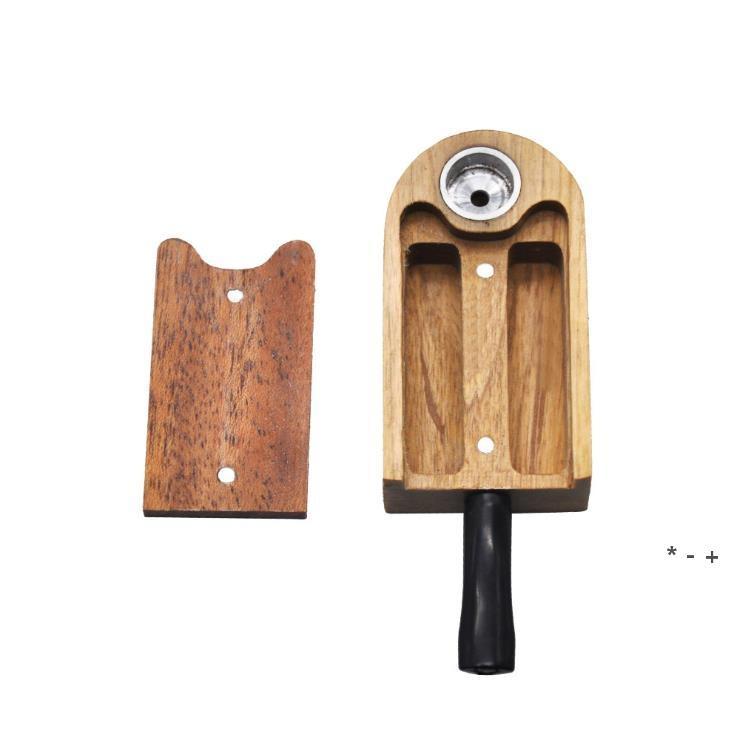Handgemachte Zigarettenhalter Faltbare Holzrohr Rot Sandelholzleitung Massivholzleitung FWB5870