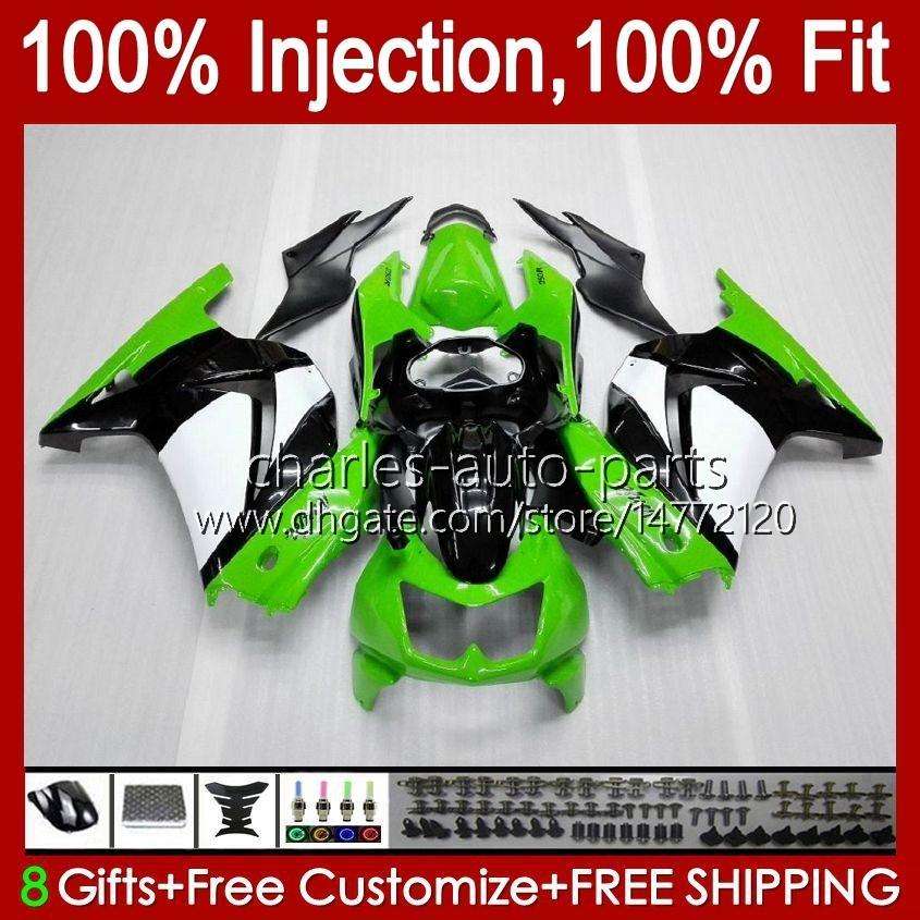 Injection For KAWASAKI NINJA ZX250R EX250 factory green 2008 2009 2010 2011 2012 13HC.12 EX250R ZX-250R ZX250 ZX 250R 08 09 10 11 12 Fairing