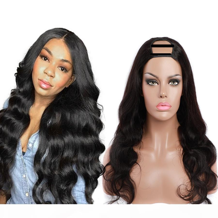 2x4 U Parça Peruk Yaki Düz İnsan Saç Kadınlar Için Vücut Gevşek Derin Yok Dantel Peruk Brezilyalı Virgin İnsan Saç Peruk Su Kıvırcık