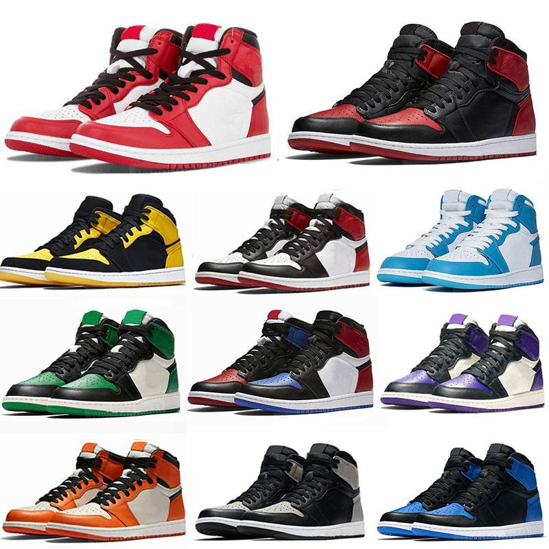 Jumpman Air Jordan 1 Basketball Shoes Athletics Sneakers Running Shoe For Women Sports Torch Hare Game Royal Pine Green Court With Box 36-47