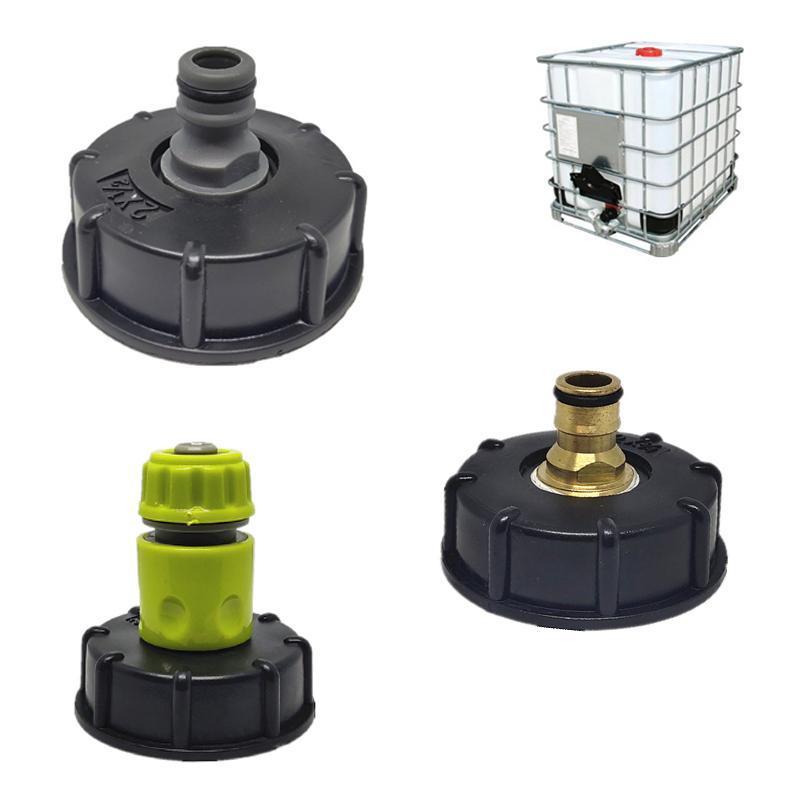 Гарновой шаровой кран для воды для IBC Container S60x6 ADAPTER RAP CAP с мужской нитью шланговые соединения