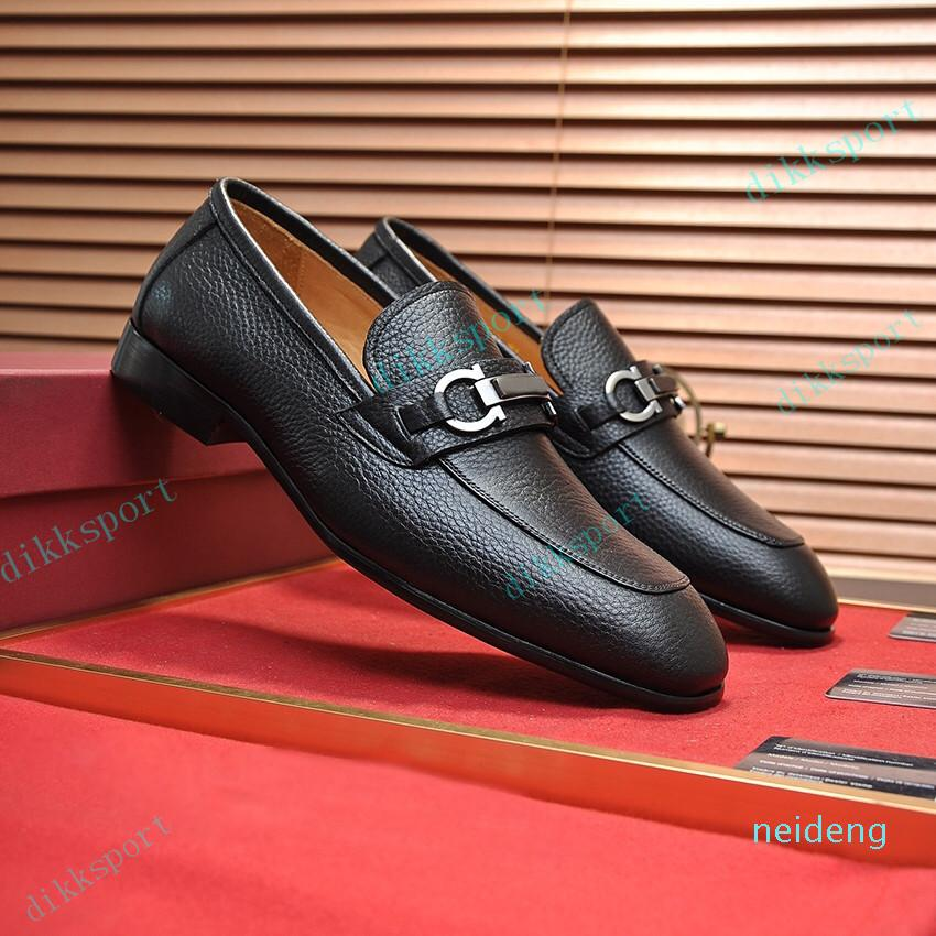 2021 Sapatos de Vestido de Qualidade Moda Homens Preto De Couro Genuíno Ponto de Tee Mens Negócios Oxfords Cavalheiros Caminhada de Viagem Comfort Ocasional