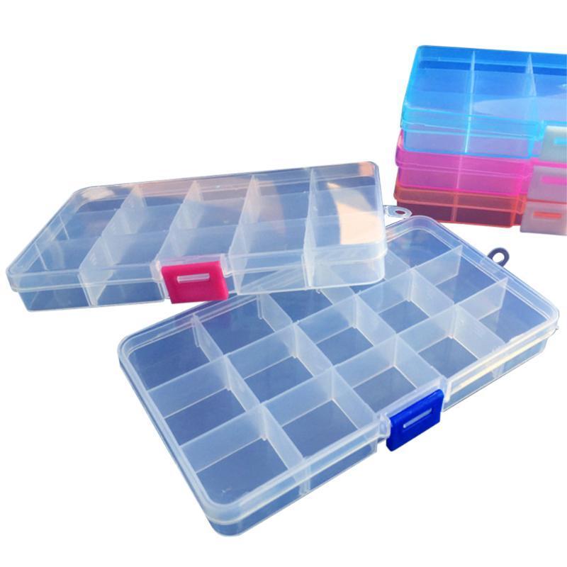 그리드 투명 플라스틱 상자 분리 가능한 정렬 부품 구성 요소 구성 PP 저장 주최자 상자 쓰레기통