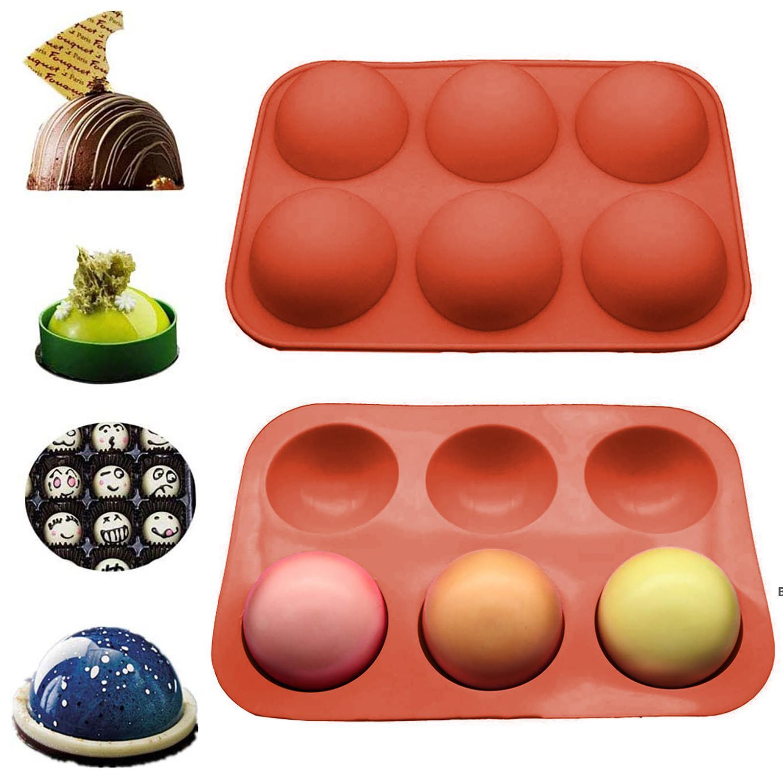 Metade da esfera Silicone Soap Molds Bakeware Bolo Decoração Ferramentas Pudim Jelly Chocolate Fondant Bola Bola Biscoito Moldes DHB6701