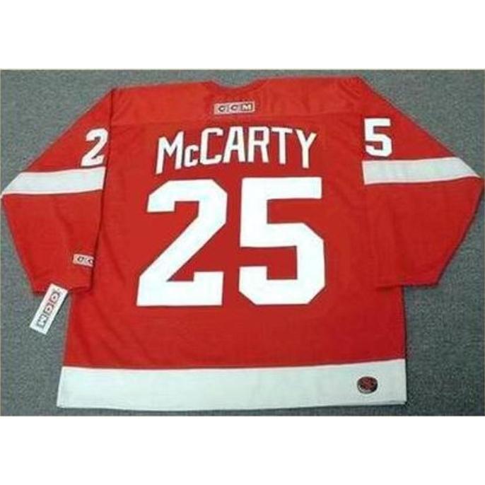 Özel Bay Gençlik Kadınlar Vintage # 25 Darren McCarty Detroit Kırmızı Kanatlar 2002 Hokey Jersey Boyutu S-5XL veya Özel Herhangi Bir Ad veya Numara