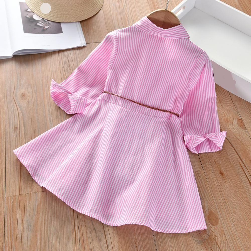 Primavera otoño niños ropa para niños vestido niños algodón solapa solapa niña manga larga camisa princesa vestido