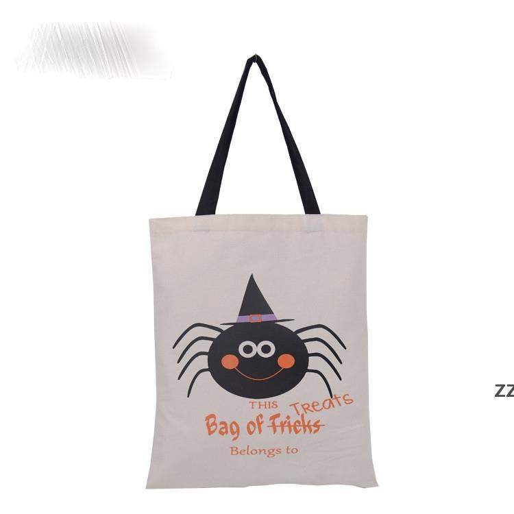 Большой Хэллоуин холст сумка многоразовая сумка для трюки или лечения Хэллоуина конфеты подарочные сумки подарочные мешки с мешками HWe8198