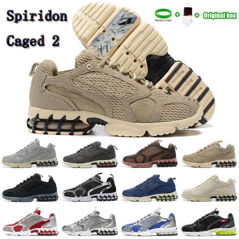Kutu ile zoom Spiridon Kafesli 2 Erkekler Koşu Ayakkabıları 3 M Spor Eğitmenler Parça Kırmızı Bej Moda Tasarımcısı 1000 Kadın Sneakers CU1854-200