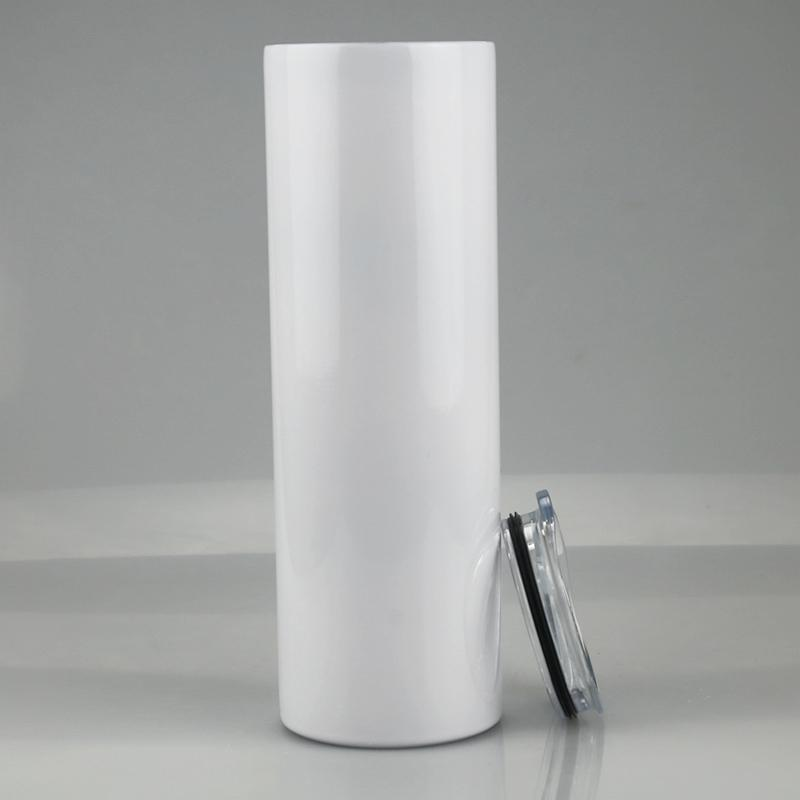 Mug product 2021 15oz 20oz 30oz stainless steel water bottles cups white sublimation blank straight skinny tumbler with lids