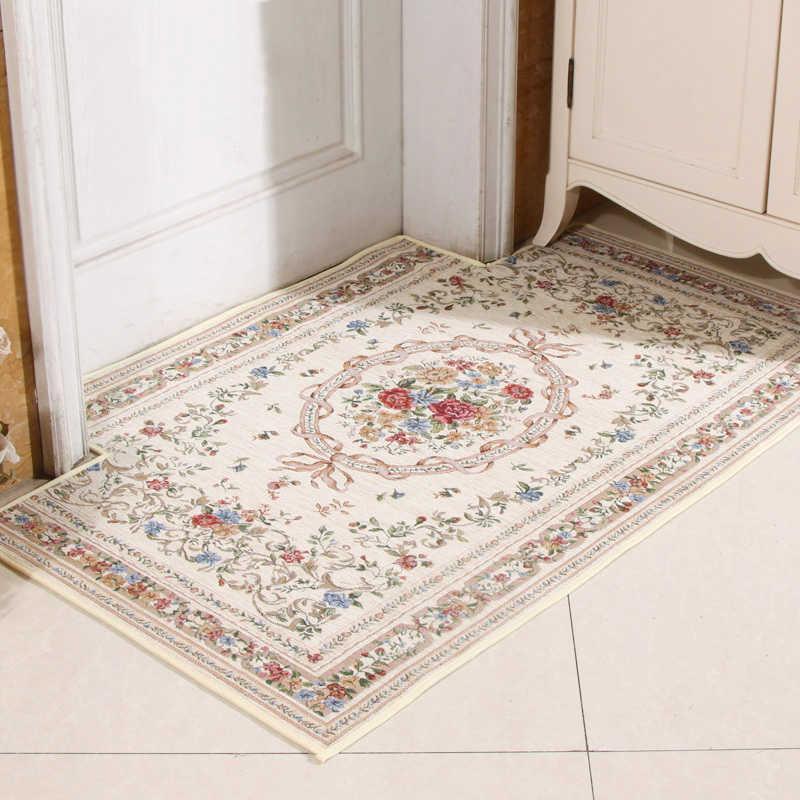 Tapetes de banho de tapete de banheiro clássico tapetes absorventes laváveis tapetes antiderrapantes Europa esteira para toalete tapete 210724