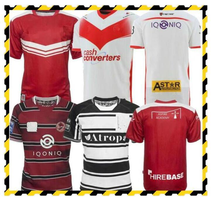 22 22 camisas do rugby dos homens Camiseta Hull FC Rovers St Helens Wigan Wigan Camisa