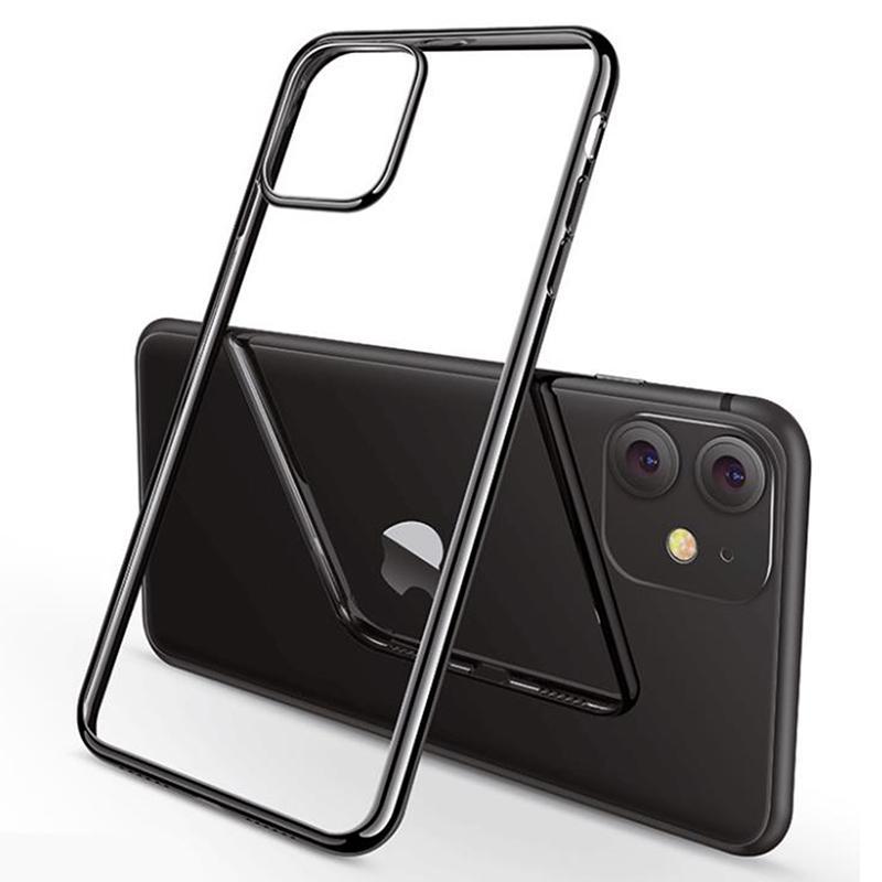 Kaplama Elektrolizle Ultra İnce Darbeye Yumuşak TPU Temizle Kauçuk Silikon Kılıf Kapak iphone 13 Pro Max 12 Mini 11 XS XR X 8 7 6 6 S Artı SE