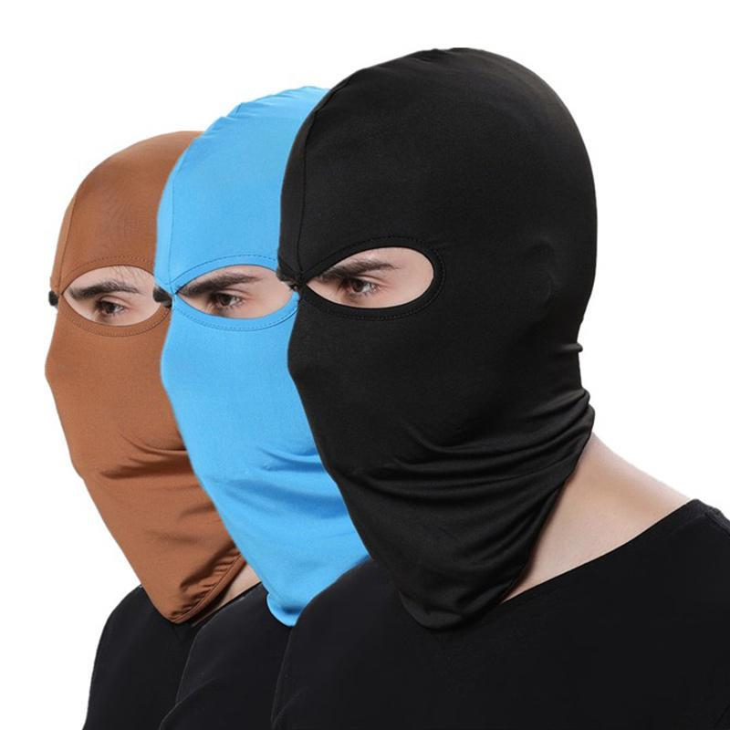 Beanies 16 색 Balaclava 남성용 모자에 대 한 비니 라이크라 얼굴 스키 마스크 보닛 여성 모자 야외 태양 보호 후드 MZ100