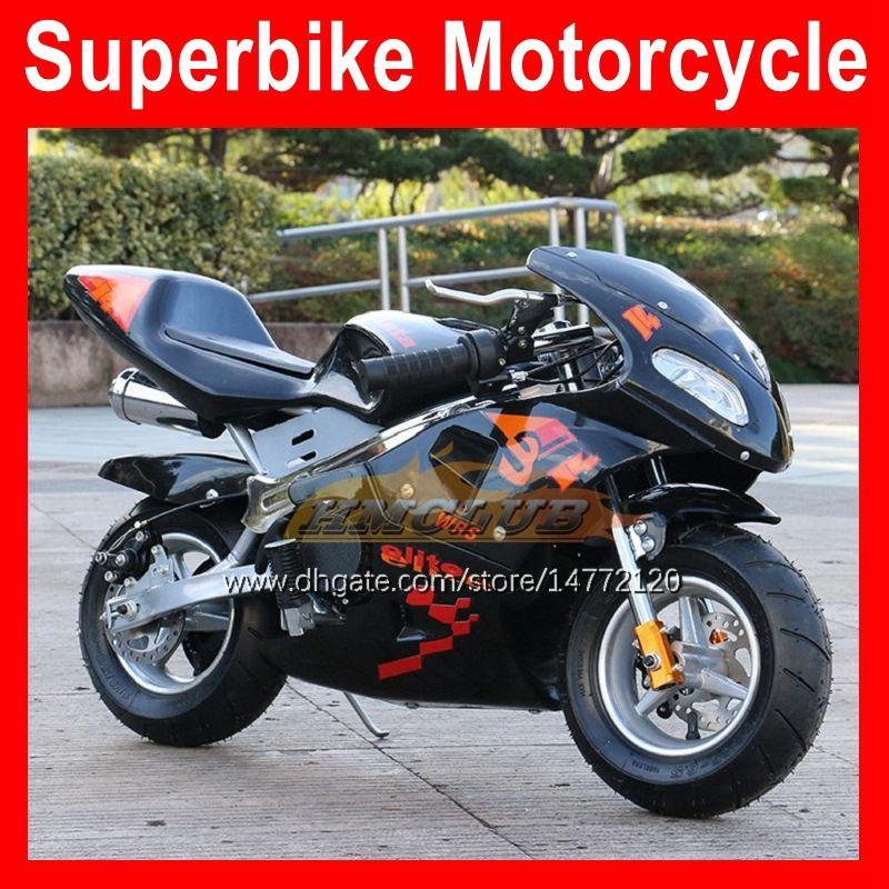 2021 Mini Motocykl 2-Skok Sports Małe Lokomotywa Moto Rowery BBirthday Gift Hand Start 49CC 50CC Nowy 2 Udajnik Benzyna Motobike Kart Dzieci Racing Motorbike