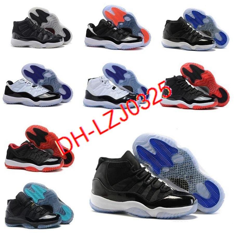 Jordan Air Retro 11 11s Botas 25º aniversario Concord Men Baloncesto Zapatos de baloncesto 12 12s Game Indigo Guión inverso Mens Mujeres Deportes Zapatillas de deporte 36-45