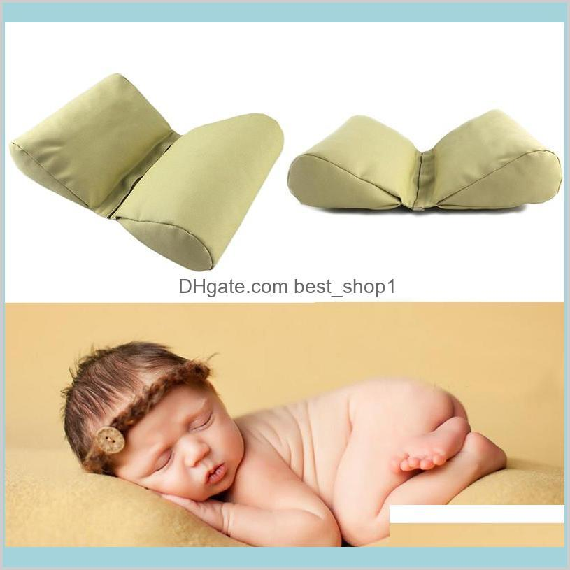 Born Baby Pography Props Accessories Wedge Shaped Posing Pillow Infnat Butterfly Cushion Pictures Prop 2Pcs/Lot Ysxxg T5Qy8
