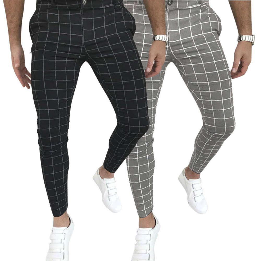 Mens Roupas Nova Zip Up Slimming Pants Calças Preto Loontowear Masculino Calças Formal Negócios Calças Masculinas Casuais