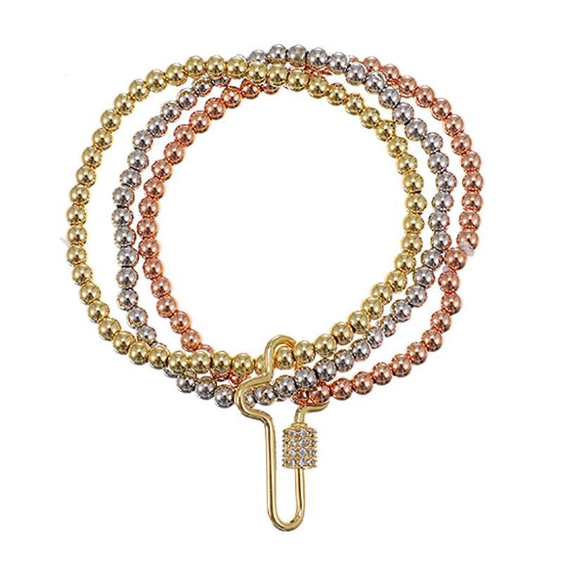 Gold Farbe Perlen Armreifen Barcelets für Frauen Mode Zirkon Multilayer Wide Wrap Armbänder Schmuck Femme Geschenk Charme