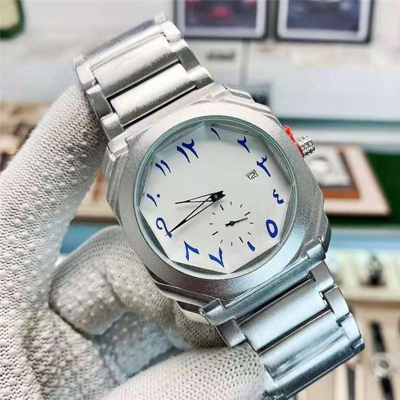 남자 시계 비즈니스 브랜드 패션 럭셔리 쿼츠 자동 날짜 스테인레스 스틸 스포츠 군사 다이빙 시계 남성용