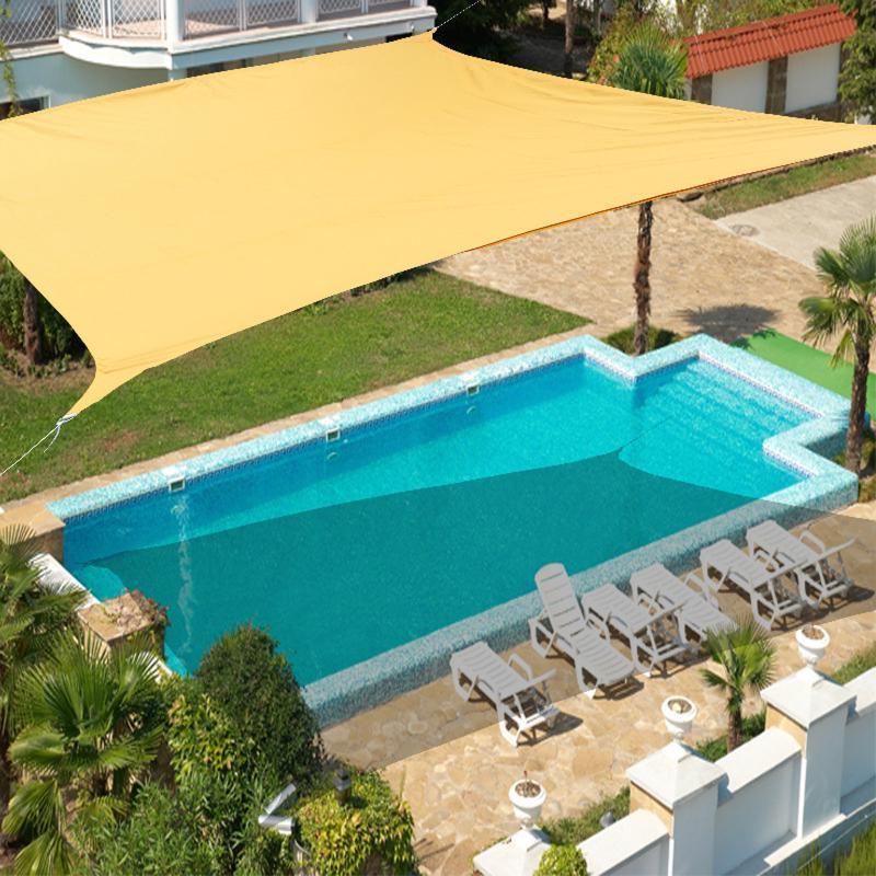 الظل ماء ماء الشراع 3 * 4 متر مستطيل الشرفة السباحة ساحة حماية الشاطئ المشي لمسافات طويلة مع أربعة الحبال المظلة