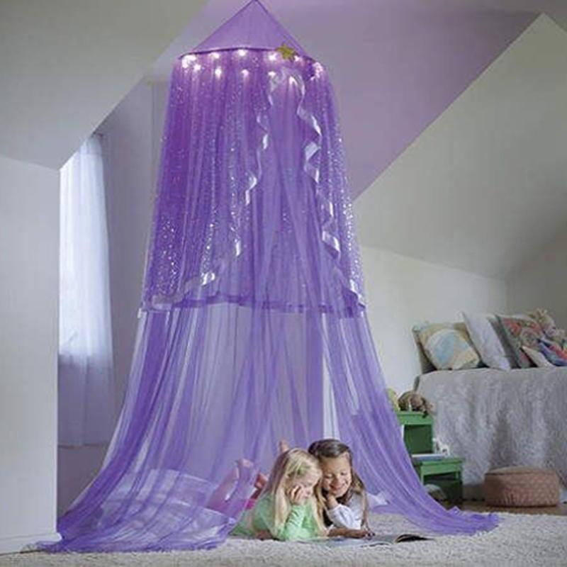 Летние детские кровать занавес детей заморозить палатка дети шифон детская кроватка сетка спальни украшения Pog Pog Poging