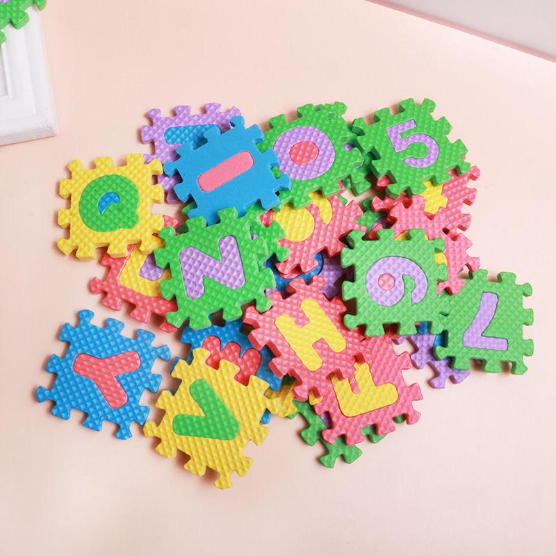 36pcs/Set Children Alphabet Letters Numerals Puzzle Colourful Kids Rug Play Mat Soft Floor Crawling Puzzle Kids Educational Toys 837 V2