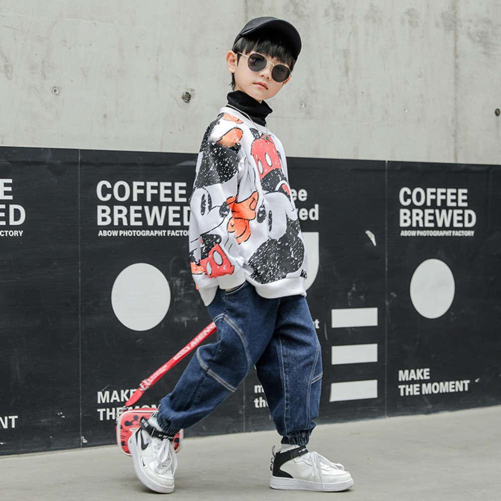 Kids linge plans d'automne pull pull pull hiver Sle étranger enfant coréen manteau erlk
